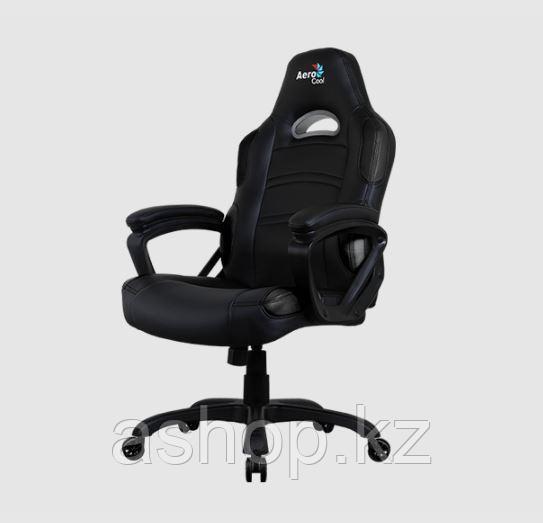 Кресло игровое AeroCool AC80C AIR, Нагрузка (max): 100 кг, Подлокотники, Подголовник, Вентиляция, Цвет: Чёрный