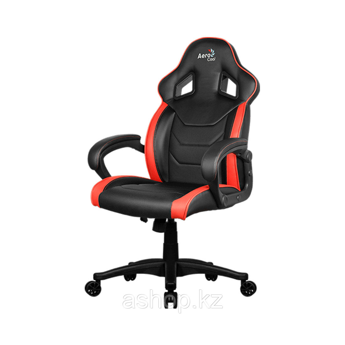 Кресло игровое AeroCool AC60C AIR, Нагрузка (max): 130 кг, Подлокотники, Подголовник, Вентиляция, Цвет: Чёрно-