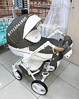 Детская коляска Riko Brano Luxe 3в1 (01 Mocca)