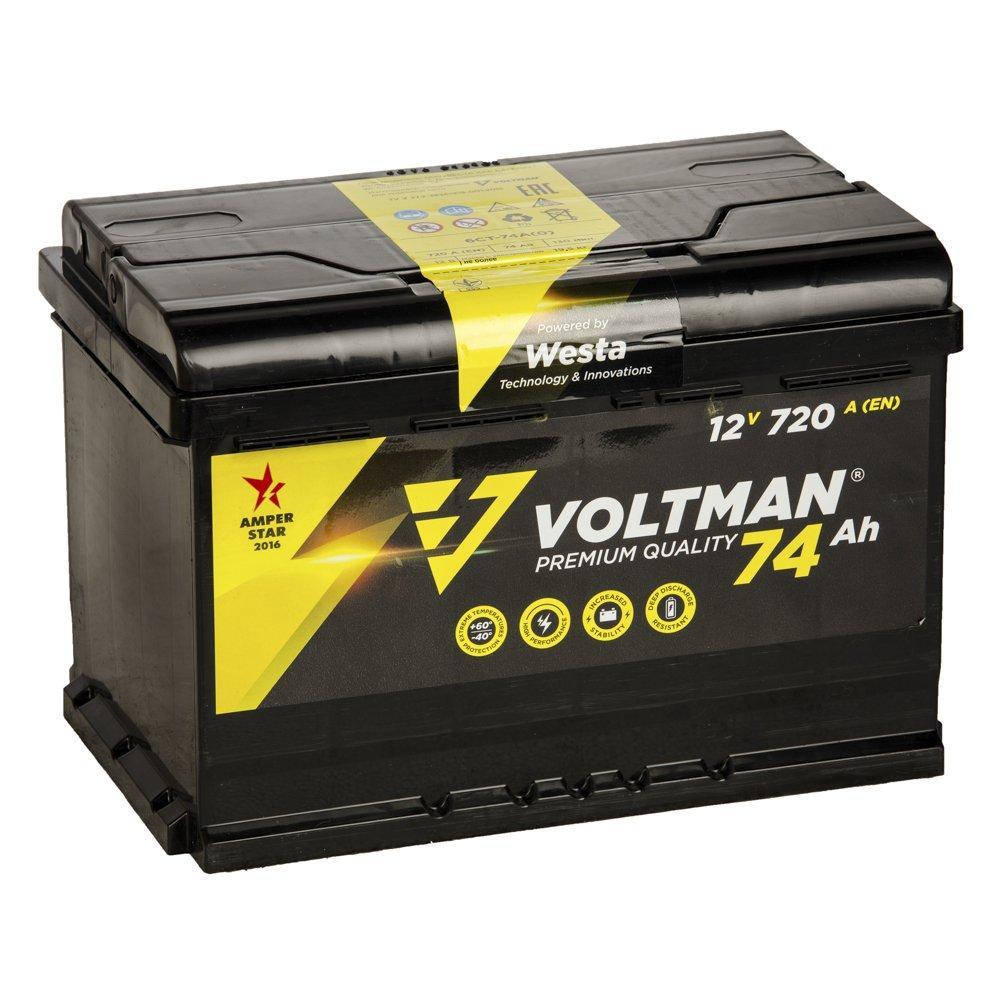Аккумулятор Voltman 74Ah