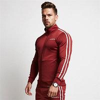 Спортивная куртка с полосками VQ красная