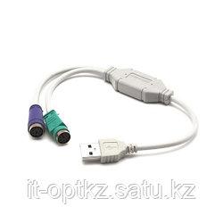 Адаптер Deluxe USB DLA-2P на PS/2 2 Порта