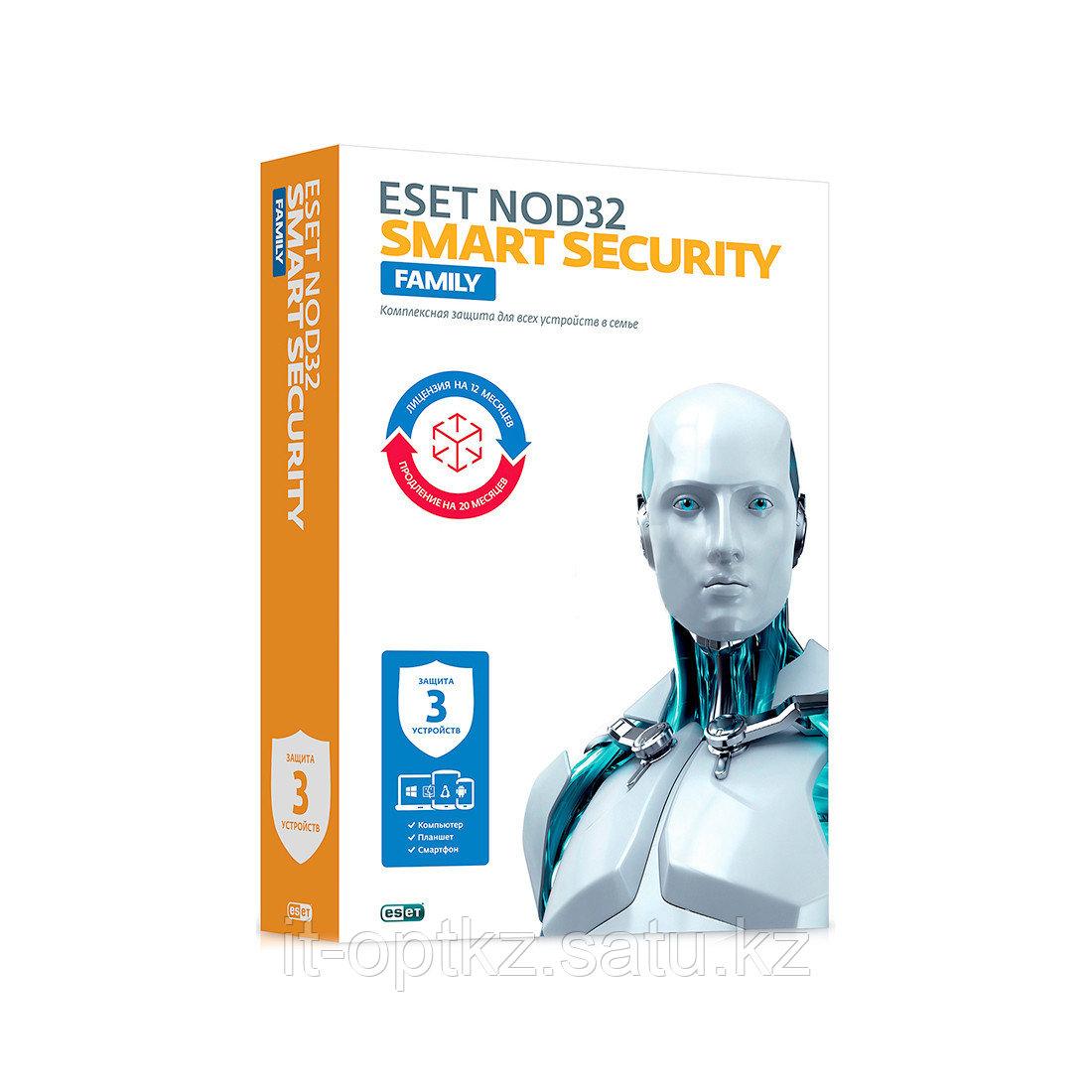 Антивирус Eset NOD32 Smart Security Family 1 год 3 ПК