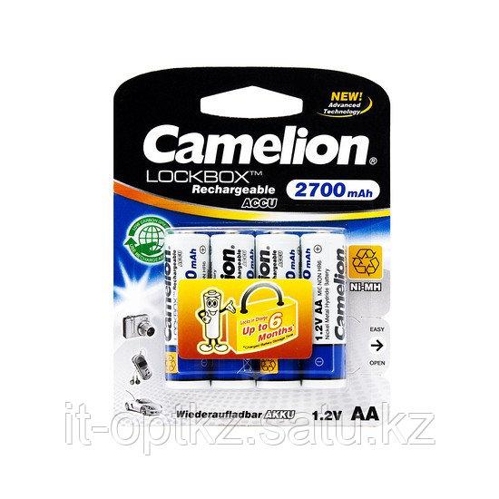 Аккумулятор CAMELION Lockbox Rechargeable Ni-MH NH-AA2700LBP4