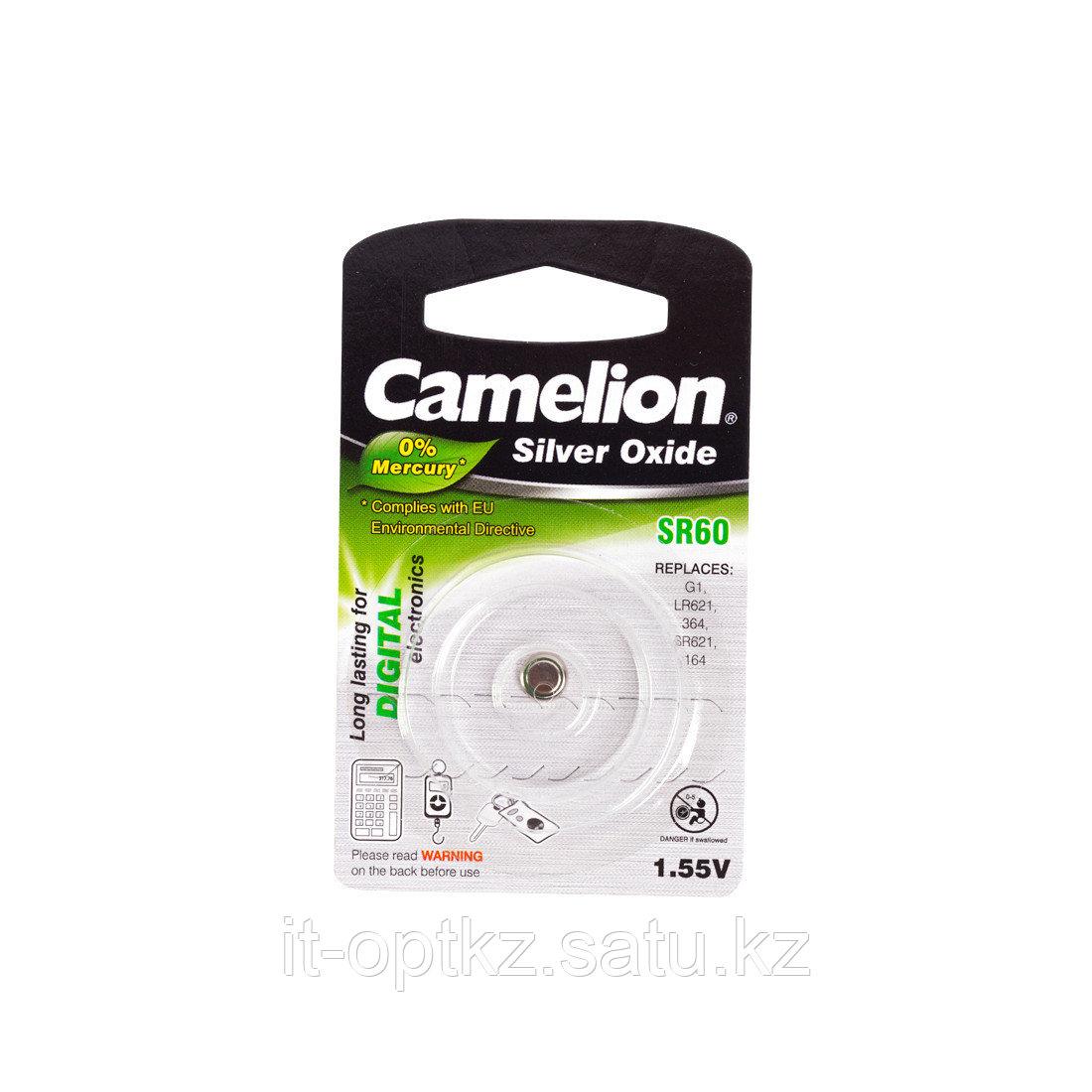 Батарейка CAMELION Silver Oxide SR60-BP1(0%Hg)