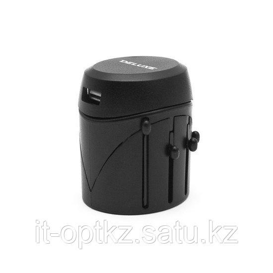 Универсальный адаптер Deluxe DWTAU04B Чёрный