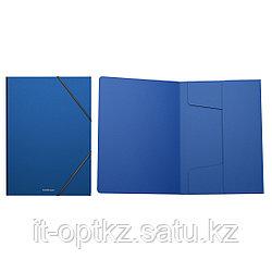 Папка на резинках пластиковая  ErichKrause® Classic, A4, синий (в коробке-дисплее по 24 шт.)