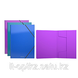 Папка на резинках пластиковая  ErichKrause® Glance Vivid, A4, ассорти (в коробке-дисплее по 24 шт.)