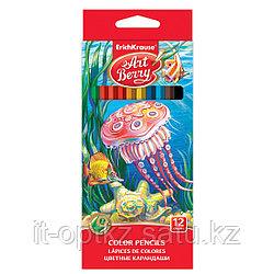 Коробка цветных карандашей шестигранных ArtBerry® , 12 цветов, ассорти
