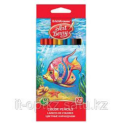 Коробка цветных карандашей шестигранных ArtBerry®, 24 цвета, ассорти
