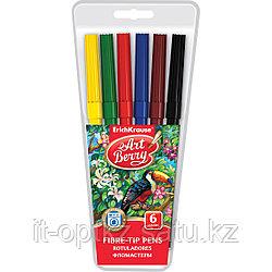 Коробка фломастеров ArtBerry® Super Washable, 6 цветов, ассорти