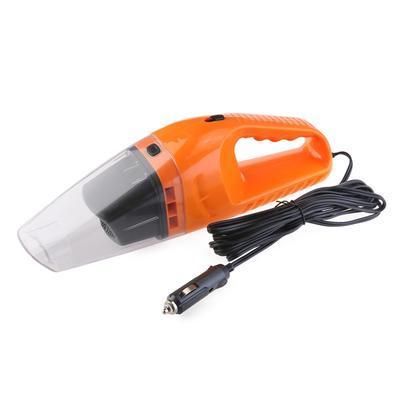 Автомобильный пылесос для сухой и влажной уборки авто пылесос 12v 120W оранжевый