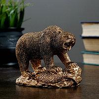 """Фигура """"Медведь хозяин тайги"""" 10 × 13 бронза"""