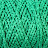 Шнур для вязания с сердечником 100 полиэфир, ширина 5 мм 100м/550гр (122 зеленый)