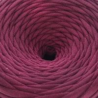 Пряжа трикотажная широкая 50м/170гр, ширина нити 7-9 мм (бордовый)
