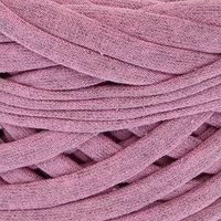 Пряжа трикотажная широкая 50м/170гр, ширина нити 7-9 мм  (розовый меланж) МИКС