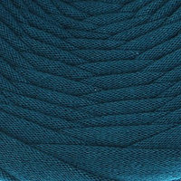 Пряжа трикотажная широкая 50м/170гр, ширина нити 7-9 мм (петроль)