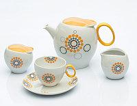 Сервиз кофейный 12 персон 27 предм Qebec (Exclusive Bohemia, Чехия)