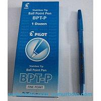 Ручка шариковая, 0.7 синяя, корпус прозрачный Pilot