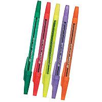 Ручка шариковая, 0.7мм, синяя, корпус цветной с блестками Стамм