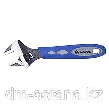 Ключ разводной 200 мм, эргономичная ручка, держатель МАСТАК 020-10200H