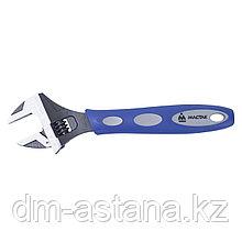 Ключ разводной 250 мм, эргономичная ручка, держатель  МАСТАК 020-10250H