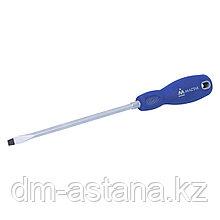 Отвертка шлицевая Slotted 8.0х200 мм, держатель МАСТАК 040-80201H