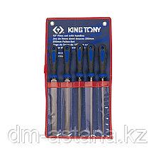 Набор напильников 250 мм, двухкомпонентные рукоятки, 5 предметов KING TONY 1015GQ