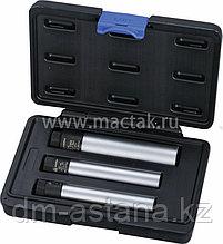 Набор свечных двенадцатигранных головок c фиксированным усилием затяжки, 14,16, 21 мм, кейс, 3 предмета МАСТАК 103-12003C