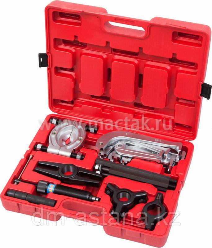 Съемник подшипников гидравлический, 10 т, 75-100 мм, 17 предметов МАСТАК 104-19010C