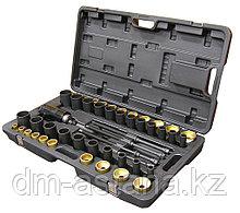 Набор оправок для монтажа и демонтажа сайлентблоков, гидравлический, кейс, 49 предметов МАСТАК 110-20049C