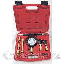 Компрессометр бензиновый, 0-21 атм, кейс, 8 предметов МАСТАК 120-10821C