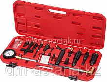 Компрессометр дизельный, 0-70 атм, комплект адаптеров МАСТАК 120-12070C