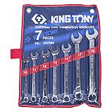 Набор комбинированных ключей, 10-19 мм, 7 предметов KING TONY 1207MR, фото 2