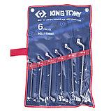 Набор накидных ключей, 6-17 мм, 6 предметов KING TONY 1706MR, фото 2