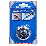 """Трещотка вороток 1/4"""", бесшаговая, дисковый механизм, для вставок (бит) KING TONY 2745, фото 4"""