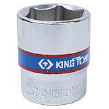 "Головка торцевая стандартная шестигранная 3/8"", 20 мм KING TONY 333520M, фото 2"