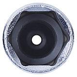 """Головка свечная шестигранная 3/8"""", 21 мм, L = 70 мм, резиновый фиксатор KING TONY 363521, фото 4"""