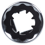 """Головка свечная двенадцатигранная 3/8"""", 14 мм, L = 113 мм, резиновый фиксатор KING TONY 36C014, фото 3"""