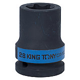 "Головка торцевая ударная TORX Е-стандарт 3/4"", E28, L = 56 мм KING TONY 657528M, фото 2"