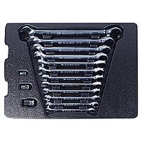 Набор трещоточных комбинированных ключей, ложемент, 15 предметов KING TONY 9-10115MR