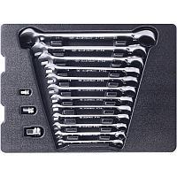 Набор комбинированных ключей с трещоткой, ложемент, 15 предметов KING TONY 9-10215MR