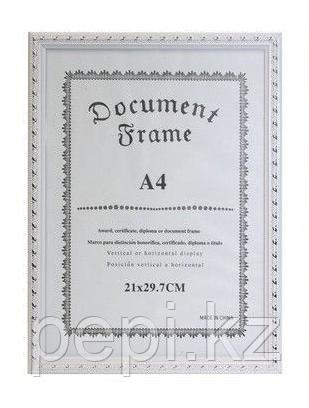 Рамка для сертификата А4 Белоснежная