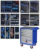 Набор инструментов в синей тележке, 286 предметов KING TONY 934-010AMB, фото 2