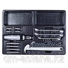 Набор разрезных ключей, ударная отвертка и съемник масляных фильтров, ложемент, 14 предметов KING TONY 9-34128FR