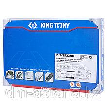 """Набор торцевых головок 3/8"""" с принадлежностями, ложемент, 23 предмета KING TONY 9-3523MR"""
