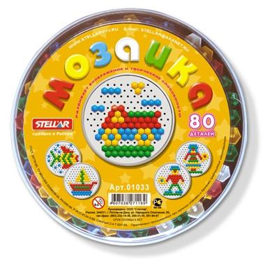 Мозаика (диаметр 13мм/80шт) в коробке