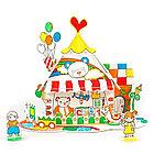 Пазл-раскраска Игрушечный домик (5 фломастеров), фото 2