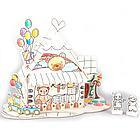 Пазл-раскраска Игрушечный домик (5 фломастеров), фото 4