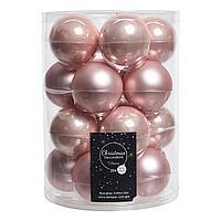 Шар стекло светло-розовый глянцевый/матовый d6см KA140219